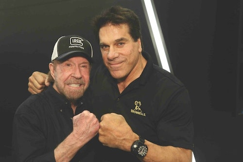 As usual, celebrity sightings caused backups in the SHOT Show aisles. This year, Chuck Norris and Lou Ferrigno could be seen on the show floor.