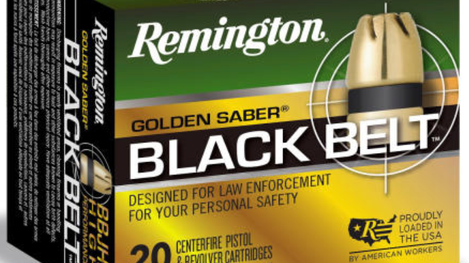 Remington shipping Golden Saber Black Belt Ammunition