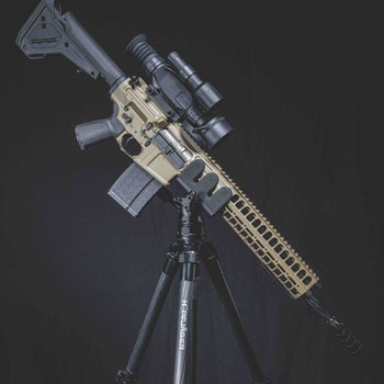 AR-platform rifles are the most popular dedicated hog rigs. Lightweight setups are the name of the game, and tripods and other gun rests will sell well, too.