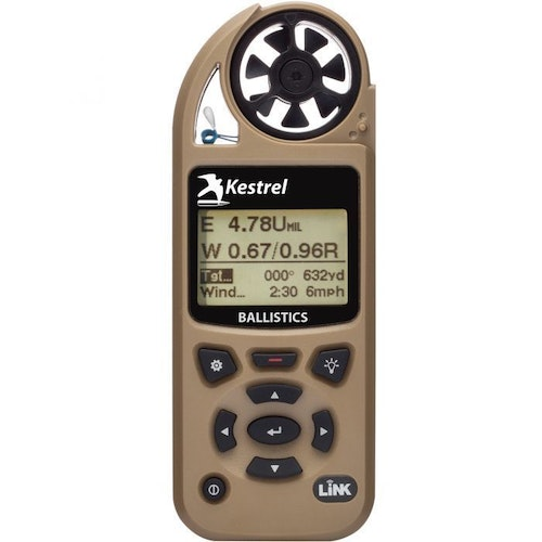 You can also increase sales by putting tech gear on display. A kiosk with GPS units, action cameras, rangefinders, radios and other gear serves customers, but also conveys the message that your store is forward-thinking, embraces technology and is here to serve. This photo features the Kestrel 5700 Elite Meter.