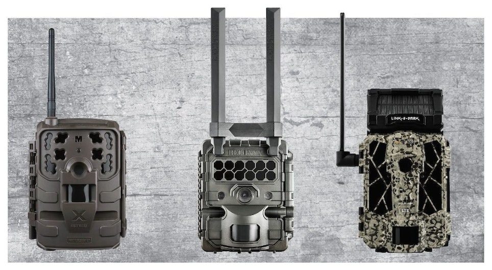 Left to right: Moultrie Delta, Reconyx Hyperfire 2 and Spypoint Link-S-Dark
