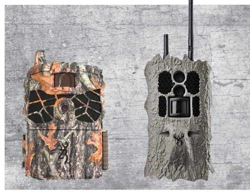 Browning Defender Ridgeline (left) and Wildgame Innovations Insite Cell