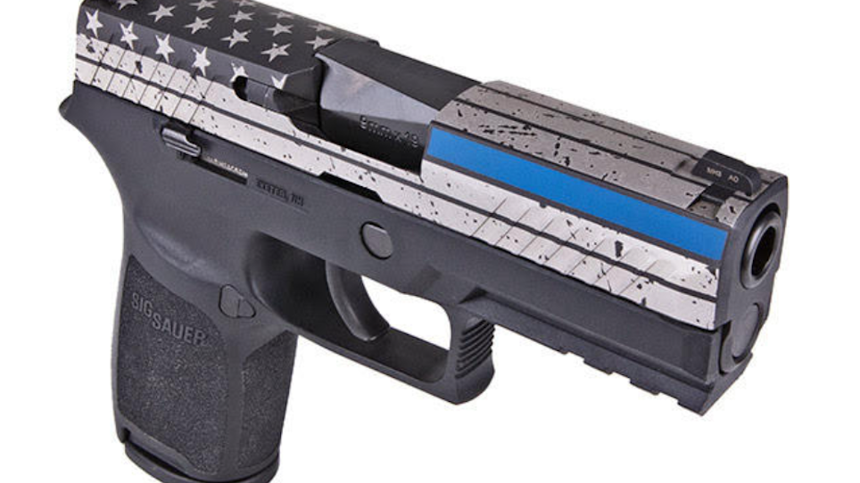 SIG SAUER Introduces Thin Blue Line P320 Pistol to NAPED