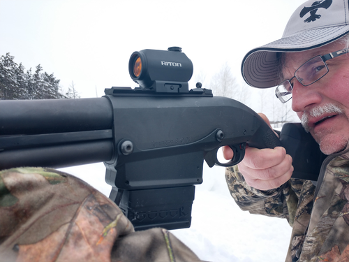 Riton's Mod 3 RMD handled the snow and cold like a champ during the author's evaluation of the optic.