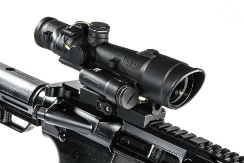 Trijicon ACOG Optic contributed greatly to accuracy on and off the bench.