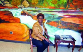 A Mural In A Mississippi Plant's Administrative Building Promotes Protection Of Water Resources