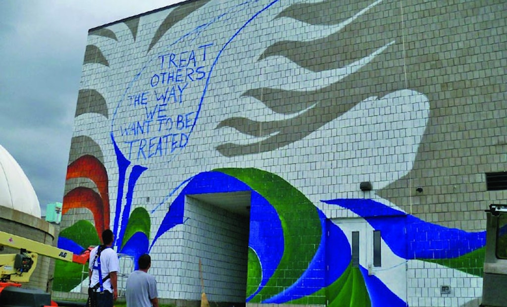 A Plant On The Mississippi's Gets A Colorful Mural Conveying Respect For Water