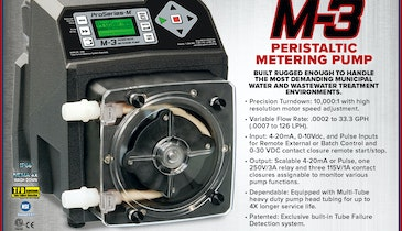 Rugged, Dependable, Precise: M-3 Peristaltic Metering Pump