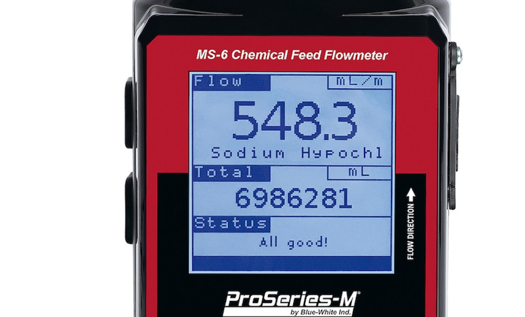 MS-6 Flowmeter Provides Solutions to the Water Treatment Market