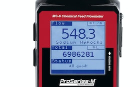 Solutions for Water Treatment: The Sonic-Pro MS-6 Chemical Feed Flowmeter