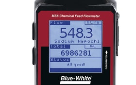 Chemical Feed Flowmeter Measures Flow in Wastewater Application