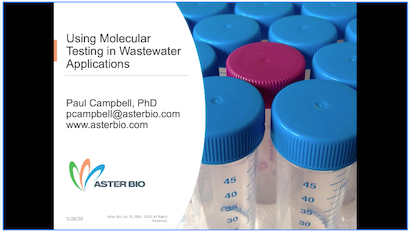 Using Molecular Testing in Wastewater Applications