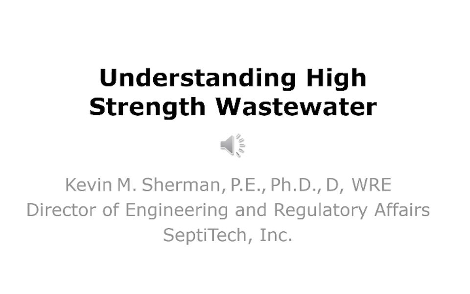 Understanding High Strength Wastewater
