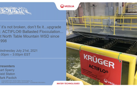 Webinar: If It's Not Broken, Don't Fix It... Expand It: ACTIFLO® Ballasted Flocculation at North Table Mountain WSD since 1998