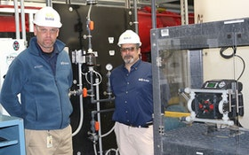 WWTP Uses Dual-Diaphragm Pump with Chemical Feed Sensor for High-Pressure Alum Application
