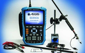 AEGIS digital oscilloscope shaft voltage tester