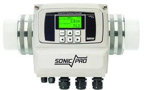 Blue-White in-line flowmeter