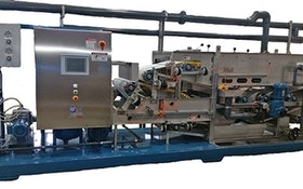 Belt Filter/Rotary Presses - Bright Technologies 0.6-meter skid-mounted belt filter press