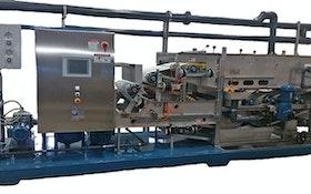 Belt Filter/Rotary Press - Bright Technologies 0.6-meter skid-mounted belt filter press