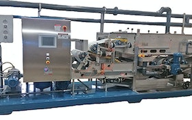 Belt Filter/Rotary Presses - Bright Technologies, Division of Sebright Products Inc., 0.6-meter skid-mounted belt filter press