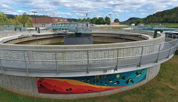 Colorful Circular Clarifiers Carry a Vital Message to a Community
