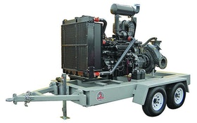Dewatering/Bypass Pumps - Dragon Products mobile water-transfer pump