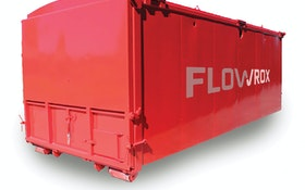 Flowrox GeoBag geotextile filtration and dewatering unit