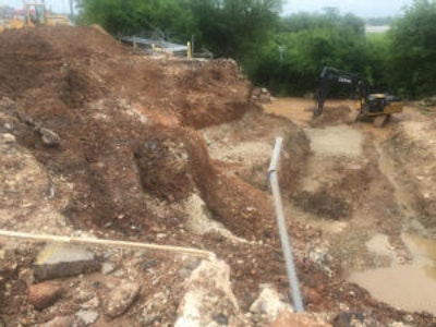 Sinkhole Severs Sewers, Wipes Out Lift Station