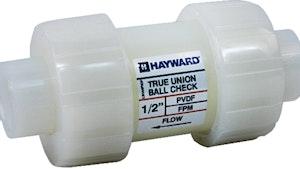Hayward Flow Control PVDF ball check valves