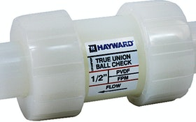 Hayward Flow Control PVDF ball check valves