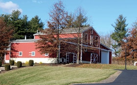 A Pennsylvania Clean-Water Plant Masquerades as a Red Barn to Blend in With Its Scenic Surroundings