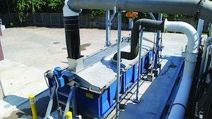 Biosolids Handling/Hauling/ Disposal/Application - Dumpster cover system