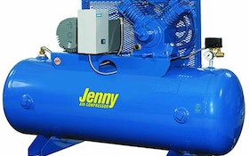 Compressors - Jenny Products electric two-stage, horizontal-tank stationary air compressor