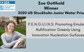 Washington State High School Student Wins 2020 US Stockholm Junior Water Prize