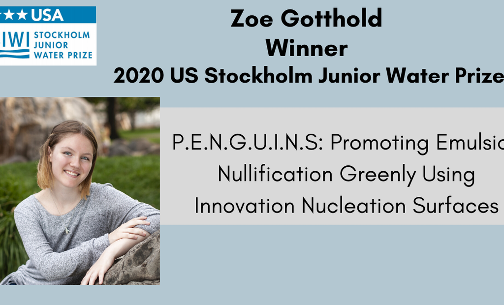 Washington State High School Student Wins 2020 US Stockholm Junior Water Prize