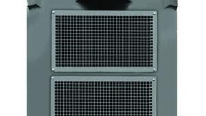 Nidec cast iron vertical fan-cooled motor