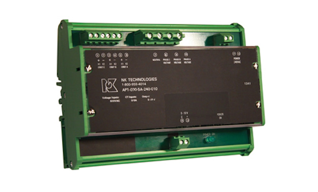Measure Three-Phase Wattage Consumption With New Power Transducer