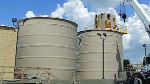 Bins/Hoppers/Silos - Fiberglass basins and wet wells