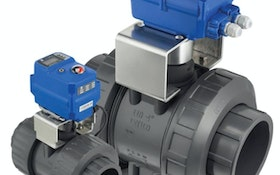 Plast-O-Matic Valves electric actuators for Basiks ball valve line