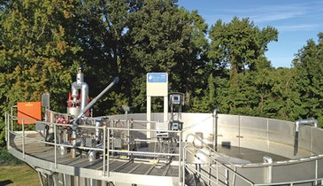 Nitrogen removal system uses less energy, no carbon source