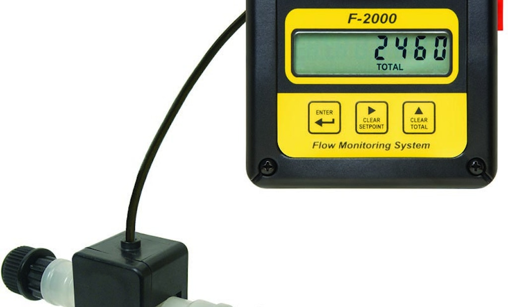 Paddlewheel Flowmeter With Analog Output Provides Remote Communication