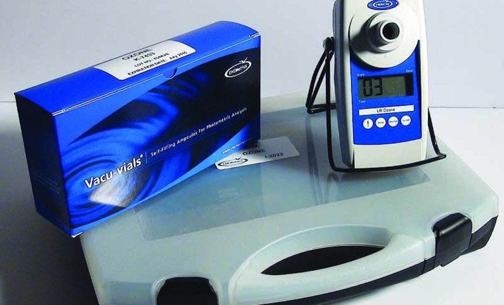 Ozone Testing Kit Using Indigo Method Eliminates Need To Measure Reagent Volume
