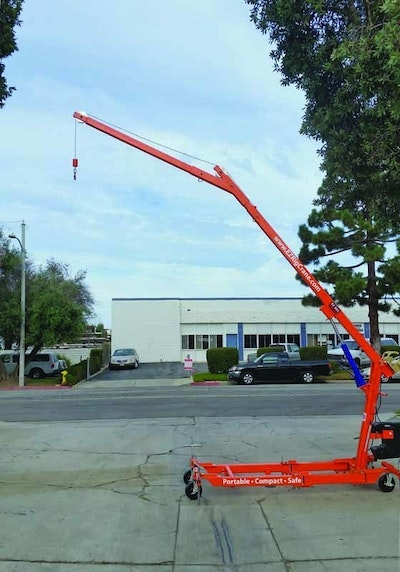 Portable Crane Rolls Through Doorways, Lifts Up To 2,400 Pounds