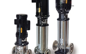 Vertical booster pumps save space, conserve energy
