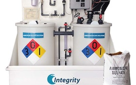 Integrity Municipal Systems liquid ammonium sulfate system produces solution on location