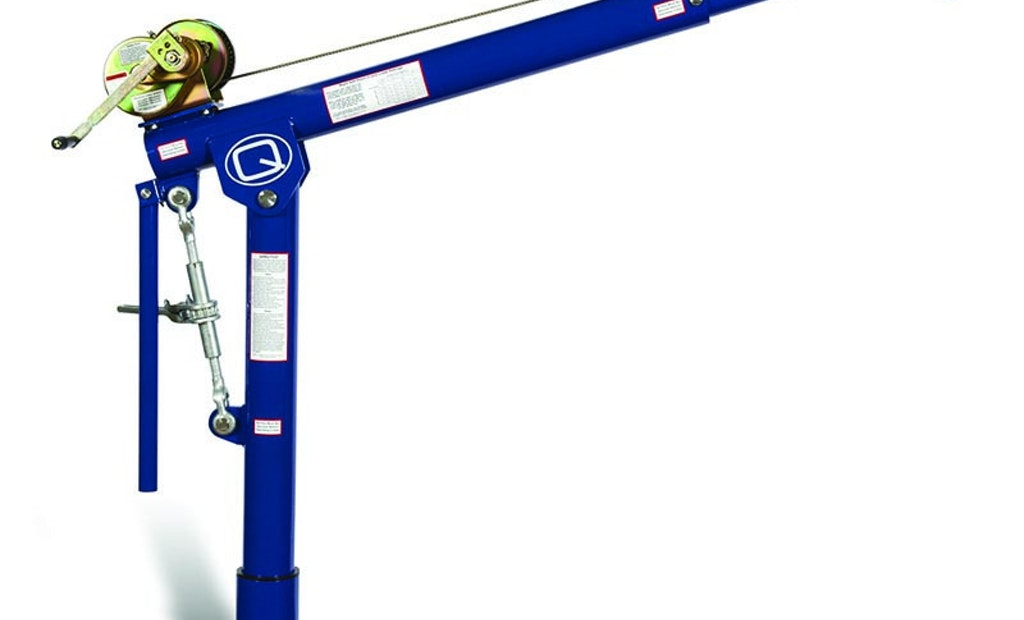Portable E-Z Turn Davit Crane Requires Less Force To Rotate Load