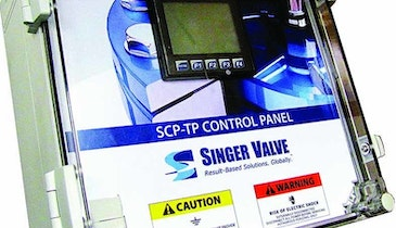 Singer Valve Showcases Single-Process Control Panel