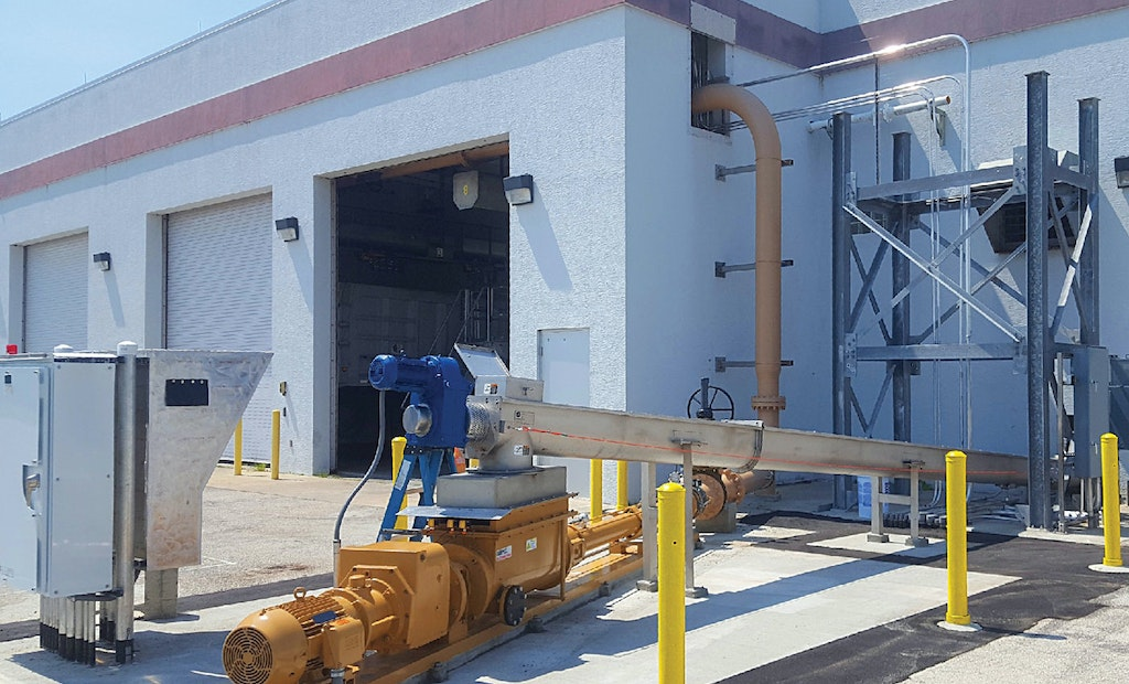 Progressive Cavity Pumping Solves a Florida Wastewater Treatment Plant's Biosolids Cake Conveyance Problem