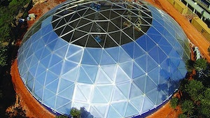 Covers/Domes - Tank Connection aluminum geodesic domes