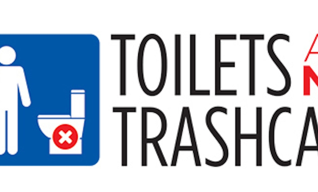 A Toilet Is Not a Trashcan, Says NACWA